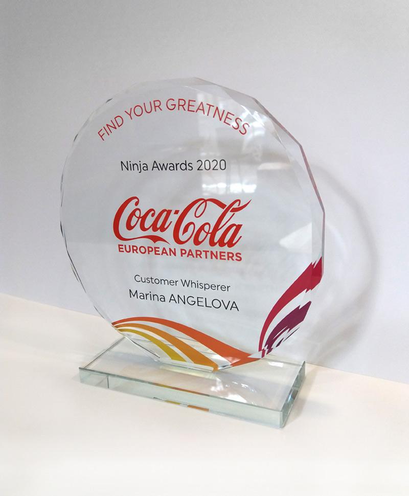 Coca Cola стъклен плакет